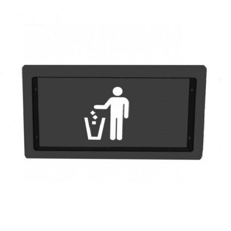 In-counter door for trash bin access