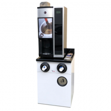 Base cabinet for coffee machines