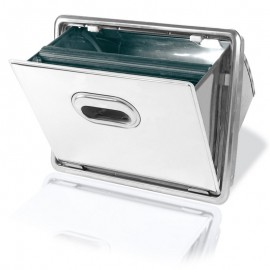 In-Counter coffee grounds knock box drawer