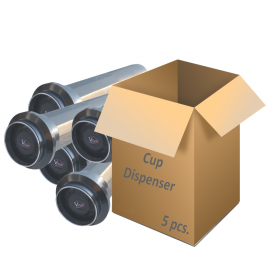 Box of 5 paper cups dispensers